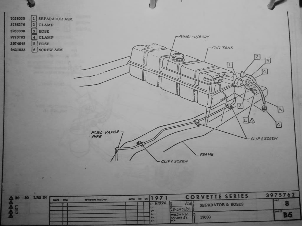 1973 Corvette Fuel System Diagram Basic Guide Wiring Leak Question 73 C3 Coupe Restoration Forum Rh Com 66 1976 Hood Cable